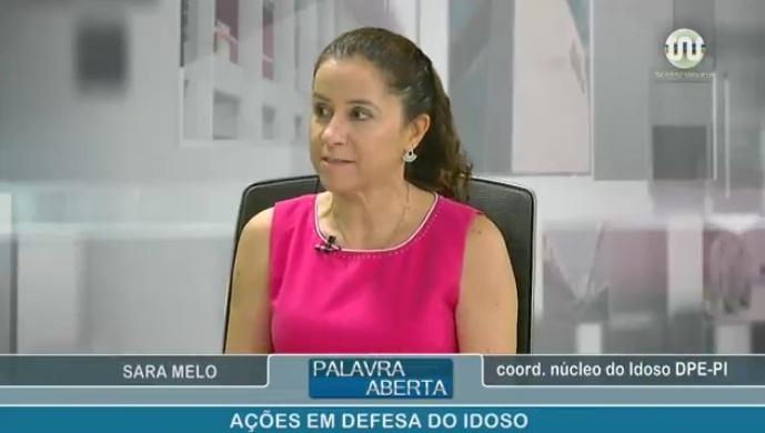 Dra. Sara Melo no programa palavra aberta tv alepi 01