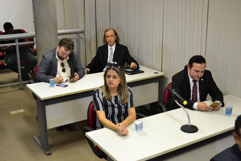 Defensores Públicos durante a Audiência