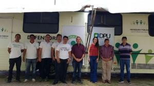 Equipe que desenvolveu a ação da DPE e DPU no município de Caraúbas