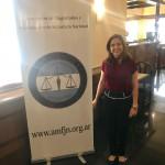 Dra. Andrea Melo durante intercâmbio em Buenos Aires