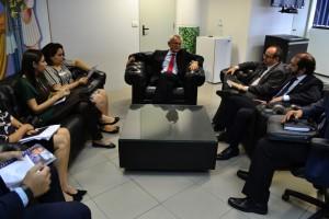 Reunião na Presidência do TRE
