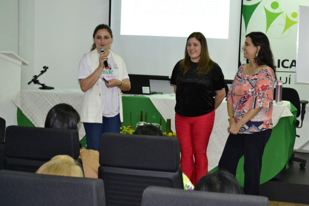 Dra. Patrícia Monte e as psicólogas Gina Quirino e Ana Rosa