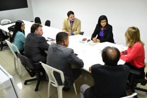 Reunião na Secretaria de Assistência Social - SASC