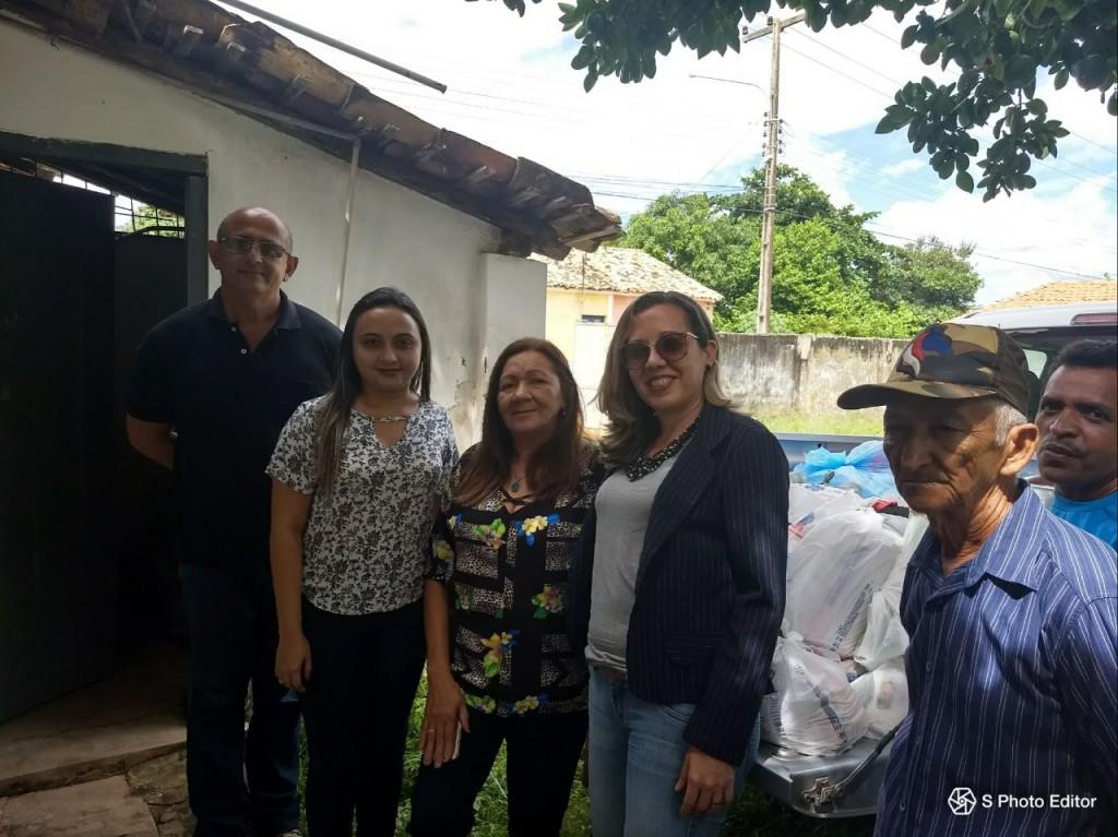 Entrega das arrecadações em José de Freitas