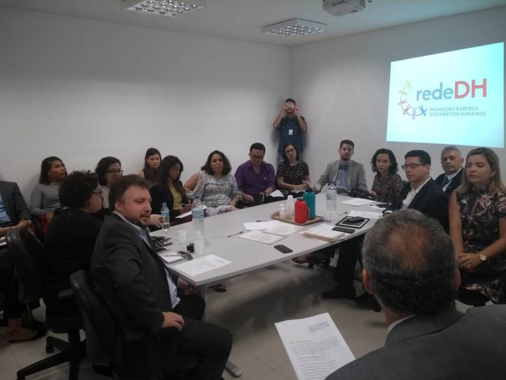 Dr. Igo Sampaio participou da reunião no Ministério Público