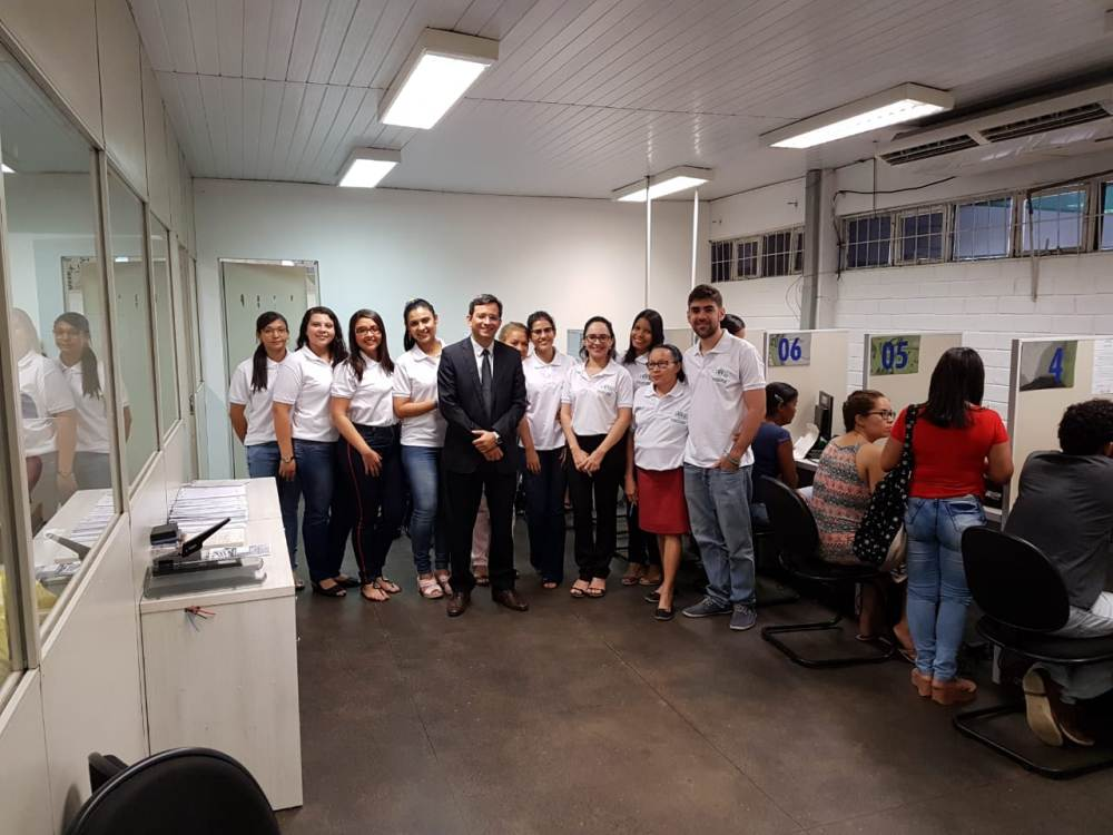 Dr. Marcelo Pierot e equipe do Primeiro Atendimento recepcionaram os assisiidos no novo espaço