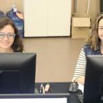 Dra. Julieta Aires e Dra. Elisa Arcoverde durante o Defensoria Sem Fronteiras no Ceará