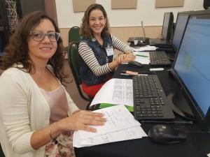 Dra. Julieta Aires e Dra. Elisa Arcoverde durante trabalho em Fortaleza