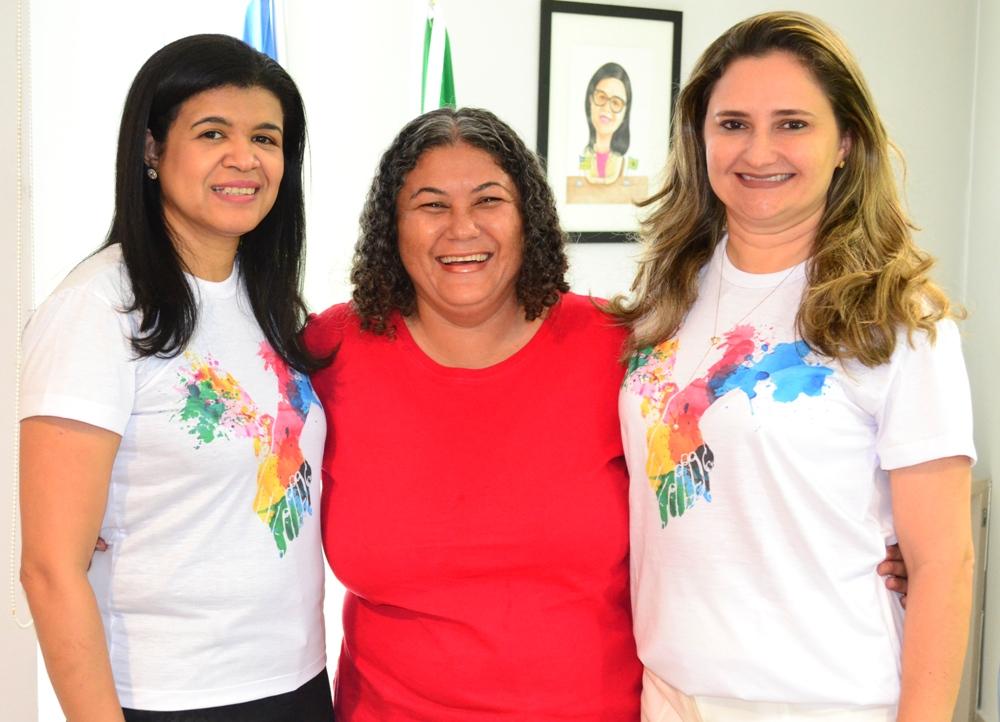 Dra. Hildeth Evangelista, Marinalva Santana e Dra. Patrícia Monte