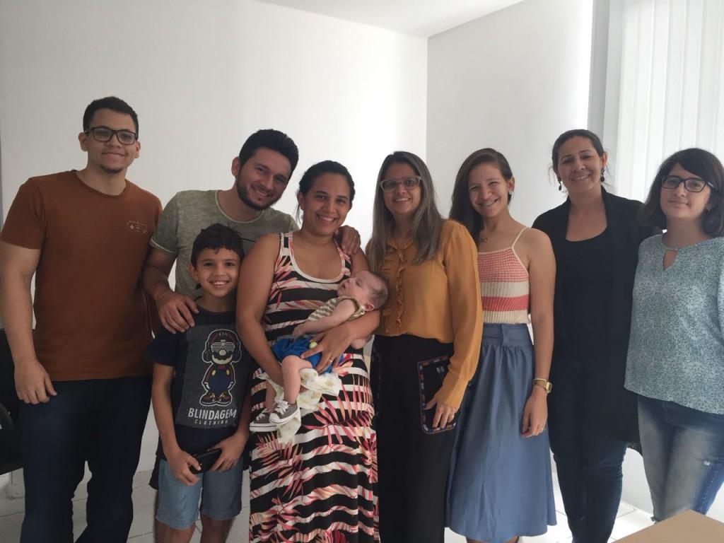 Empenho da equipe do Nucideca foi fundamental para a família de Luís Guilherme