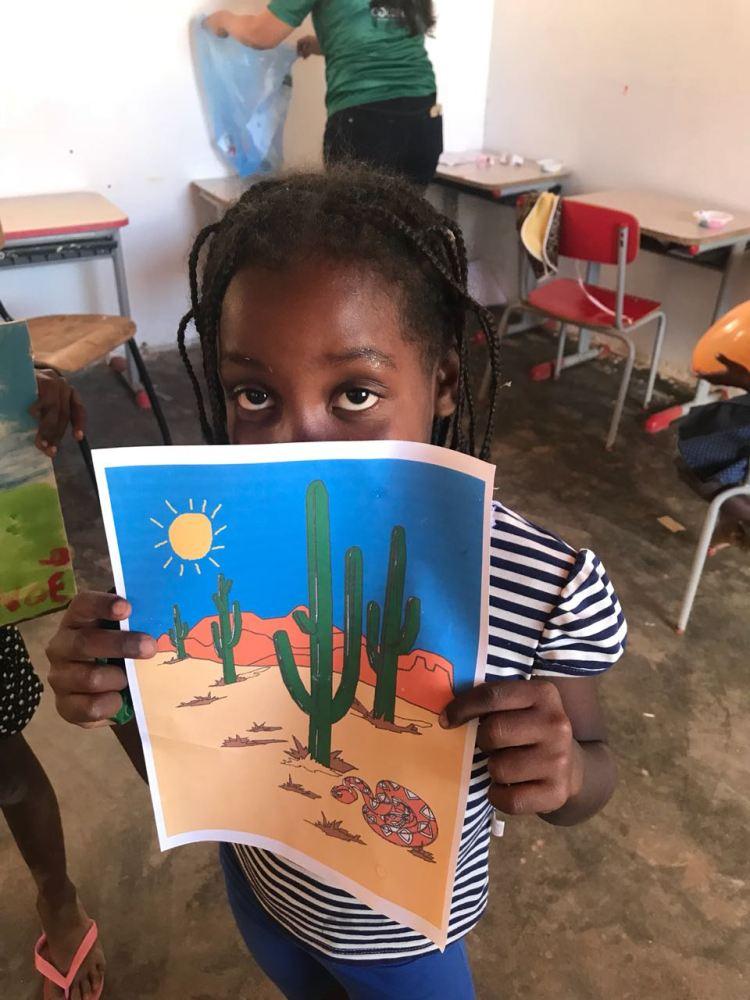Oficina de Pintura incentivou a criatividade das crianças