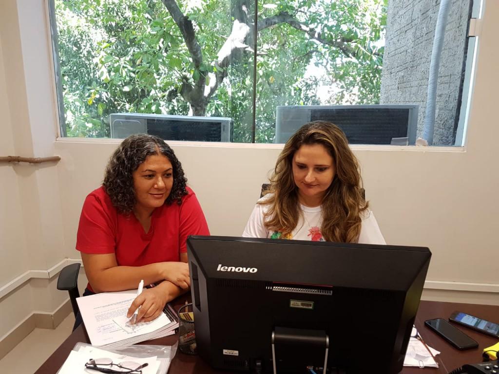 Dra. Patrícia Monte e Marinalva Santana acertam detalhes da ação