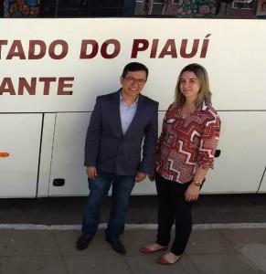 Dr. Paulo Henrique e a Coordenadora da Itinerante do TJ/PI