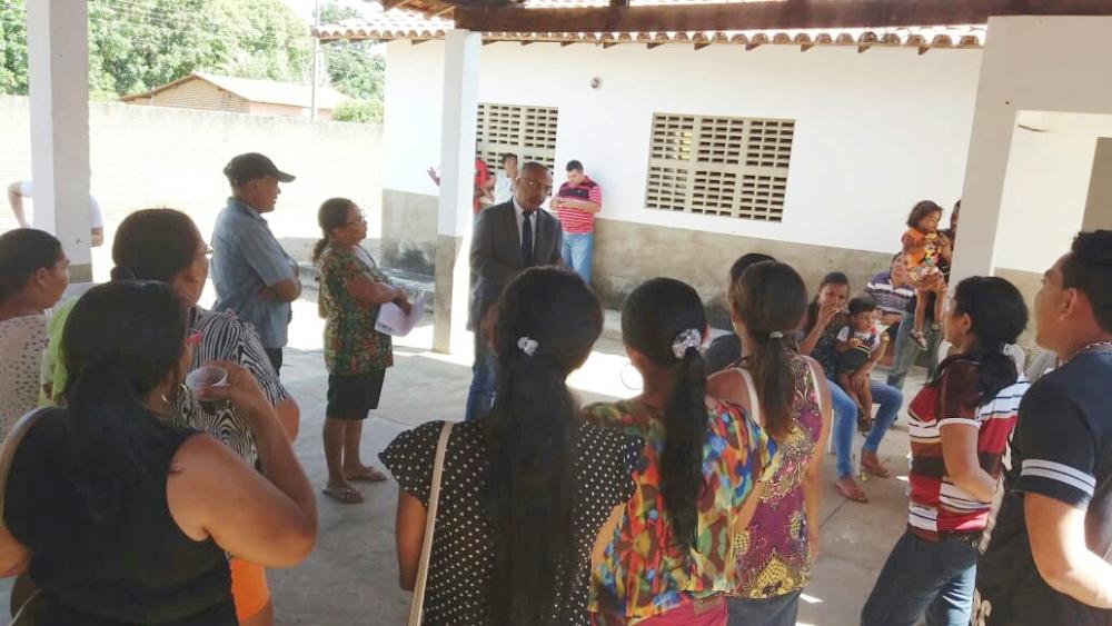 Dr. Jefferson Calume  e assistidos pela Defensoria em Lagoinha do Piauí