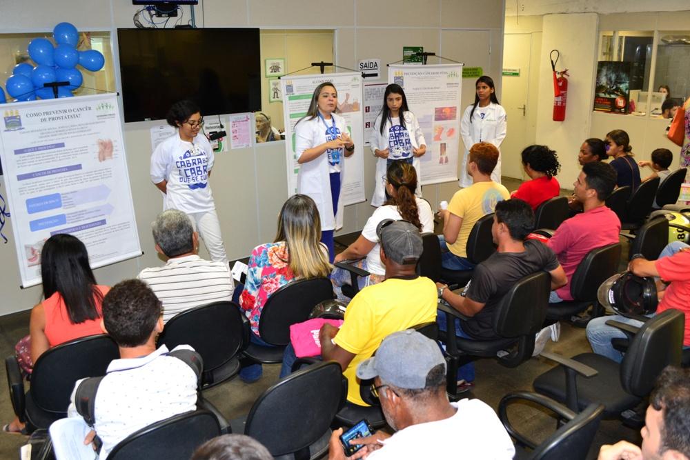 Assistidos recebem orientações sobre saúde