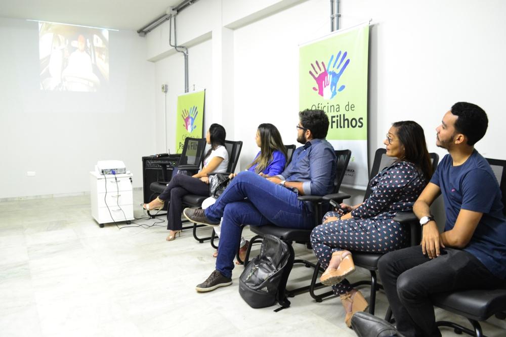 Participantes da Oficina de Pais e Filhos