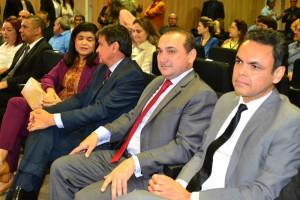 Dra. Hildeth Evangelista e Governador Wellington Dias durante o evento