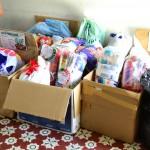 Entrega de donativos à Pastoral do Povo da Rua