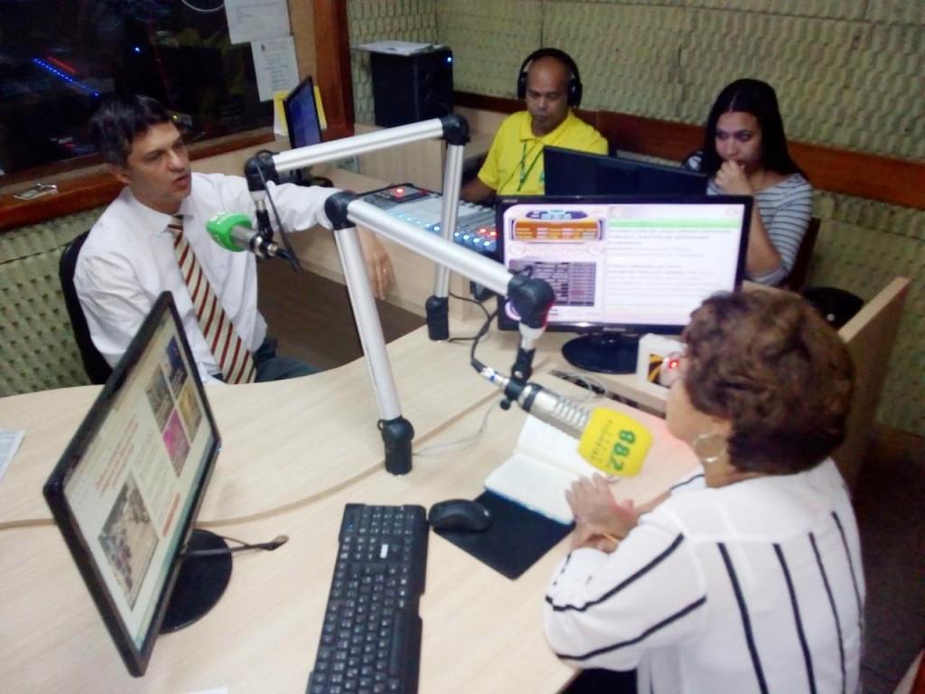 """Dr. Afonso Lima é entrevistado no Programa """"A Cidade em Movimento"""" na Rádio Pioneira"""
