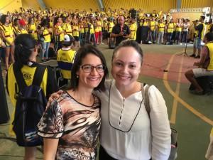 Dra. Gilmara Pessoa e Dra. Maria Teresa Correia durante a ação em Picos (Divulgação)