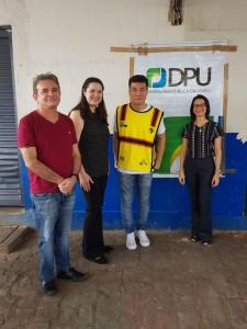 Defensores da União, Dr. Rômulo Sales e Dra. Tarcijany Linhares, juntamente com Coordenador do Projeto, Presidente do Instituto Livres, Juliano Son e Dra. Gilmara Pessoa (Divulgação)