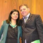 Dr. Hildeth Evangelista e Deputado Carlos Augusto