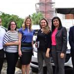 Defensoras Públicas durante visita do Governador à obra da DPE-PI