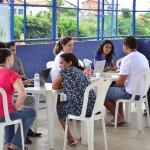 Atendimento das famílias na quadra do Parque Rodoviário