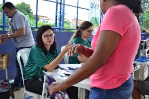 Dra. Ângela Barros e Dra. Patrícia Monte atenderam a população na sexta-feira