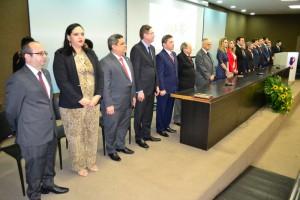 Mesa de Honra da solenidade em comemoração aos 87 anos da OAB
