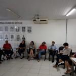 Reunião no auditório da Seplan