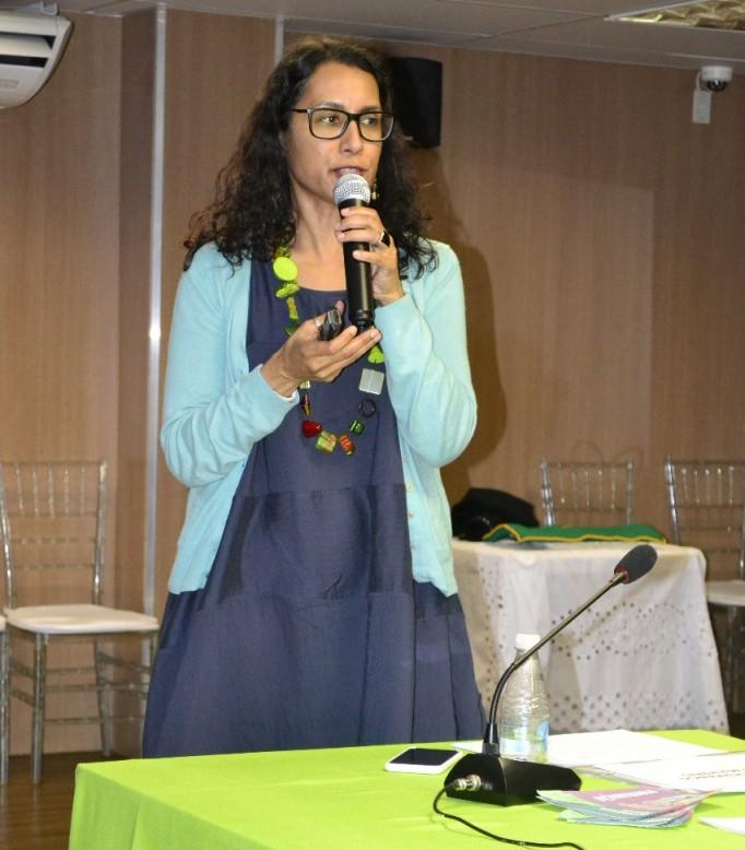 Dra. Mônica de Melo proferiu a palestra na noite do dia 16