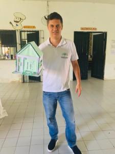 Dr. Afonso Júnior durante a comemoração no Centro