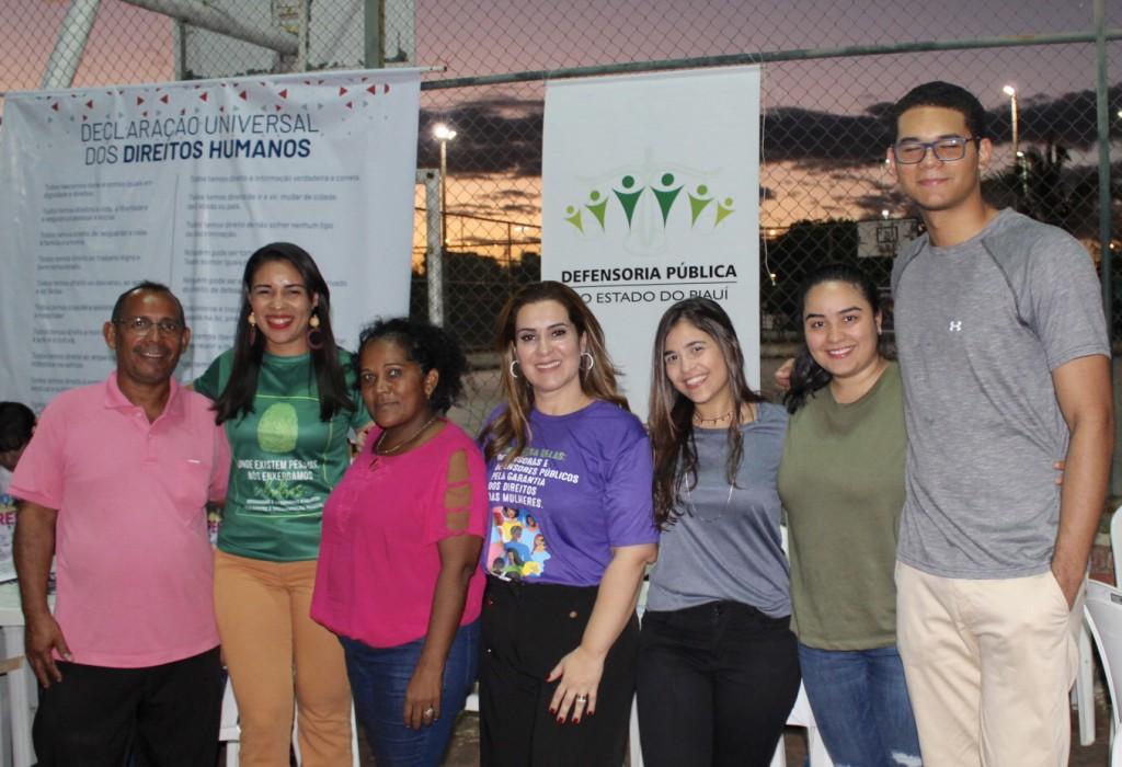 Equipe da Defensoria Pública presente ao evento