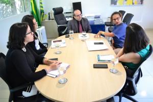 Reunião no Gabinete do Defensor Público Geral