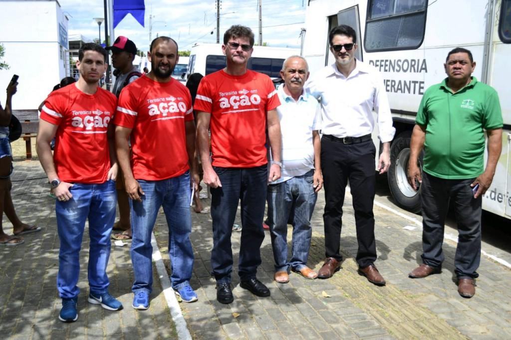 Equipe da Defensoria Itinerante no Teresina em Ação no Parque Lagoas do Norte
