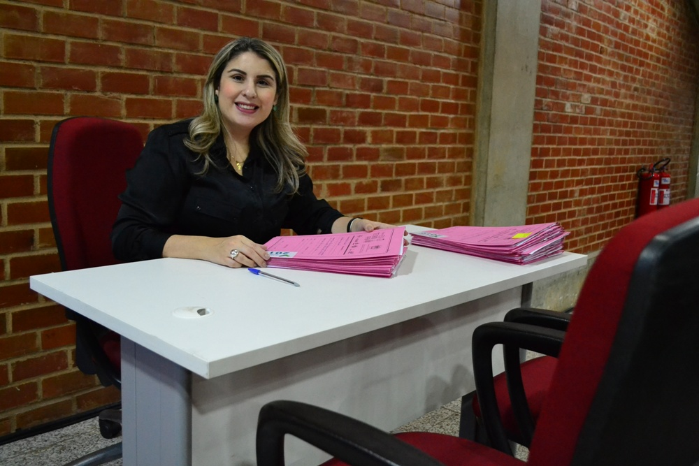Dra. Alynne Patrício durante a ação no Tribunal de Justiça