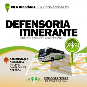 Defensoria Itinerante Vila Operaria
