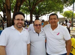 Dr. Robert Júnior, Dr. Erisvaldo Marques e Padre Antônio Cruz