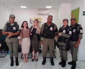 Coordenadora do Núcleo recebeu a Subsecretária e integrantes da Patulha