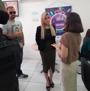 Analmeka Cadena e Lia Medeiros discutiram parceria